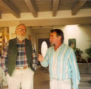 Ray and Franklin at Pat's house in 2000